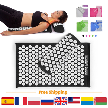 Acupressure Massage Mat Pillow Set Acupuncture mat Yoga Mat for Relieve Stress Back Neck Sciatic Pain Relaxation Tension Release 1