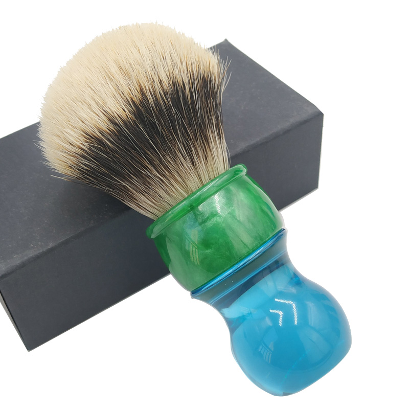 Dscosmetic 26mm 2band Badger Hair Shaving Brush With Blue Handle
