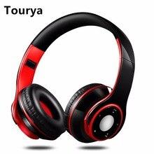Tourya беспроводные наушники bluetooth-гарнитура регулируемые наушники с микрофоном Поддержка TF карты эквалайзер функция для ПК мобильного телефона Mp3