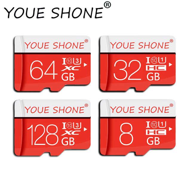 Розничная упаковка Micro SD карта 8 ГБ 16 ГБ 32 ГБ SDHC высокоскоростная карта памяти класс 10 Флэш-карта 64 Гб 128 ГБ мини sdcard для смартфона