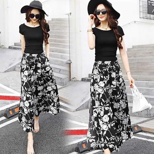 2019 Summer New Style Pendant Sense Loose Pants WOMEN'S Suit Western Style Fashionable Slimming Culottes Fashion Elegant Two-Pie