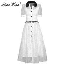 MoaaYina Fashion Runway dress Summer Women's Dress