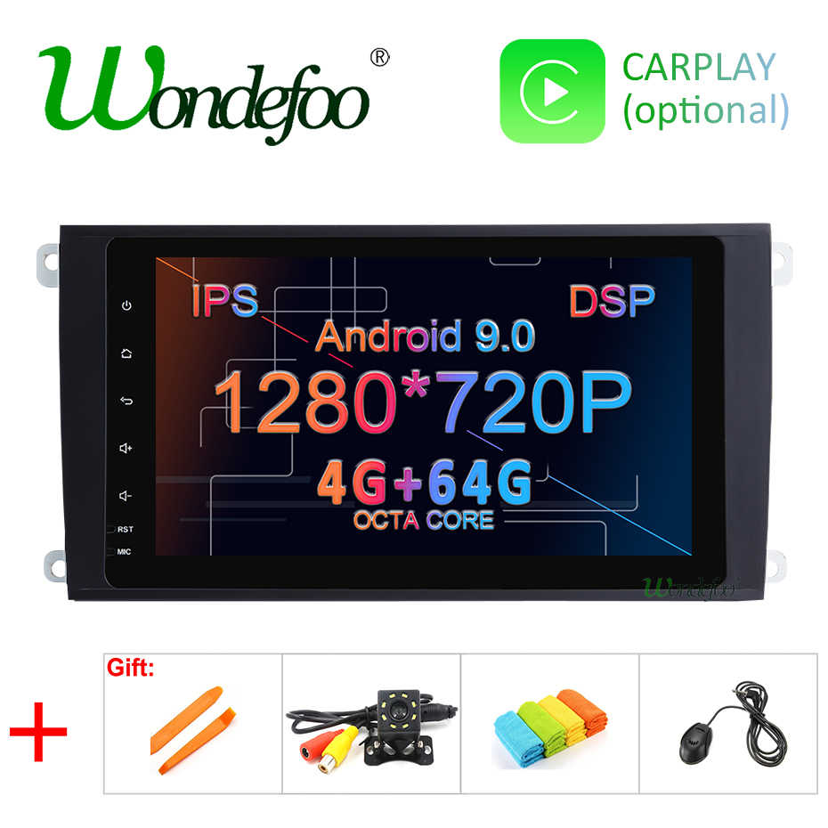 DSP IPS 2 Din Android 9,0 64G DVD del coche GPS multimedia para Porsche Cayenne 2003-2010 y Cayenne S 2003-2010 y Cayenne GTS 2003-2010