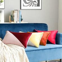 Slip Cover Pillow Case Splicing Two-color Velvet Cushion Sofa European Style decorative pillows