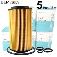 Lot de 5, filtre à huile 6111800009 pour Jeep mercedes benz W204 CL203 S204 C209 W211 S211 W163 W639 Sprinter 5 t Box / Bus (906)