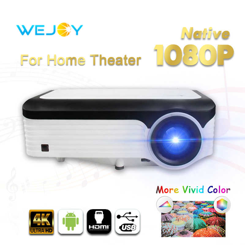 Wejoy L6 LCD projektor full hd z systemem Android wideo 1080P projektor dane pokazują kina domowego film LED projektor 4k tv 5G WIFI Bluetooth