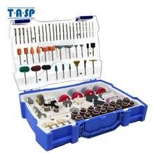 TASP 268 adet elektrikli Mini matkap ucu aksesuarları seti aşındırıcı aletler Dremel döner aracı için zımpara sondaj taşlama parlatma
