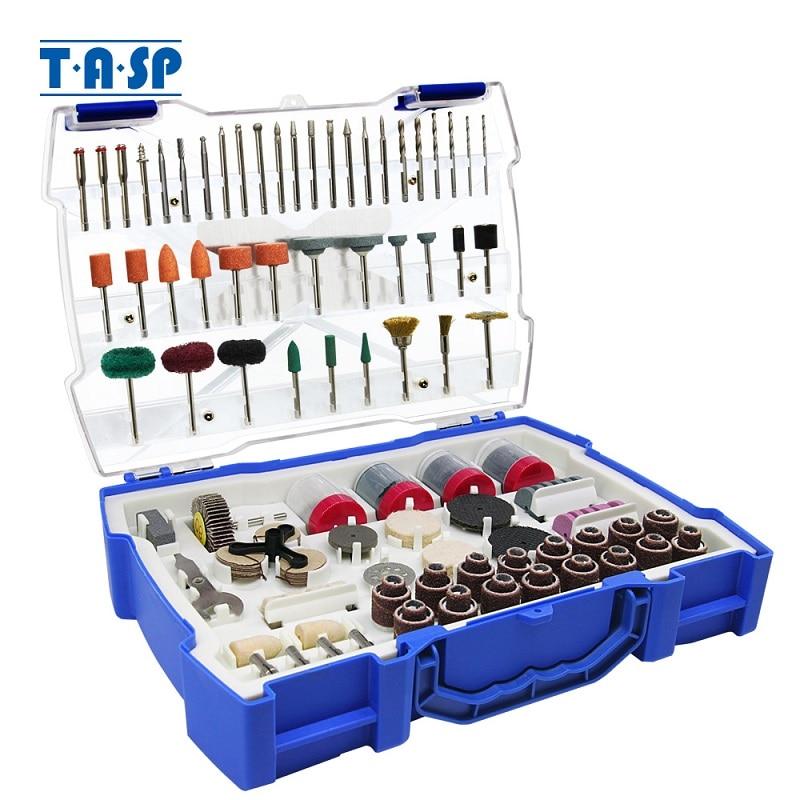 TASP 268 pz Mini accessori elettrici per punte elicoidali Set di utensili abrasivi per utensile rotante Dremel Levigatura Foratura Rettifica Lucidatura