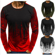 Men Camouflage Printed Male T Shirt Bottoms Top Tee Male Hiphop Streetwear Long Sleeve Fitness Tshirts Dropshipping(China)