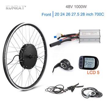 KUNRAY-Rueda de Motor eléctrico de 1000W, kit de conversión de bicicleta eléctrica...
