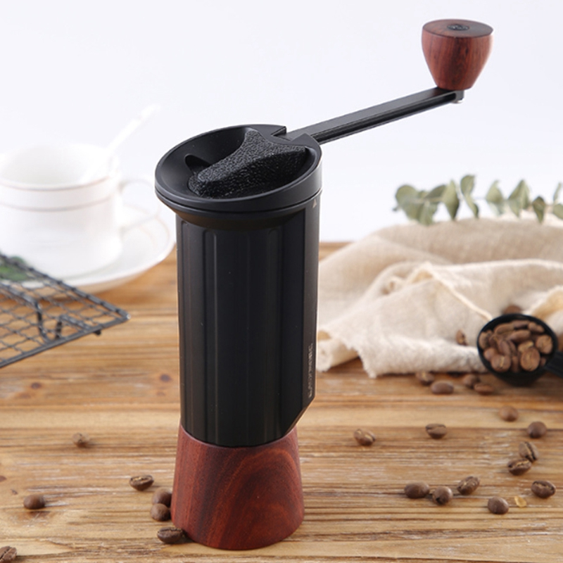Portable H Idden Handle Hand Coffee Machine Hand Coffee Grinder Household Coffee Pot with Stainless Steel Grinding Core Househol|Manual Coffee Grinders| |  - title=