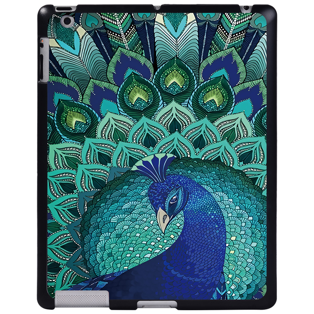 peacock Purple For Apple iPad 8 10 2 2020 8th 8 Generation A2428 A2429 tablet PC Plastic Printed