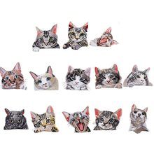 Cute Cat Iron On Patches for Clothing Animal of The Breach Embroidery Applique DIY Hat Coat Dress Pants Decoration Cloth Sticker breach of faith