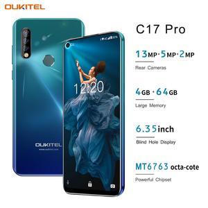Image 2 - OUKITEL C17 פרו 6.35 19:9 4GB RAM 64GB ROM MT6763 Smartphone 13MP טביעות אצבע אוקטה Core אנדרואיד 9.0 4G נייד טלפון 3900mAh