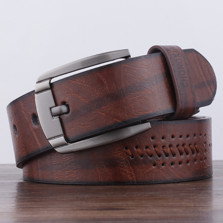 Men's Belt High Quality Leather Belt Men Male Genuine Leather Strap Luxury Pin Buckle Fancy Vintage Jeans Free Shipping