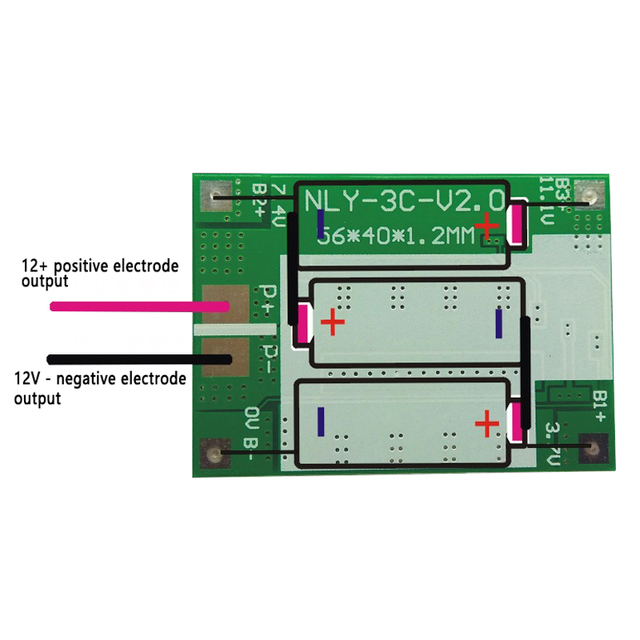 3S 40A BMS 11.1V 12.6V 18650 lithium battery protection Board with balanced Version for drill Motor 40A current 1