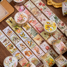 Stationery Sticker Masking-Tape Stamp Decorative Scrapbook Diary Forest-Series Vintage
