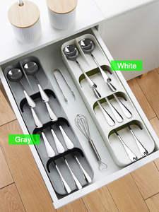 Knife-Holder Storage-Tray Spoon Separation Kitchen-Organizer
