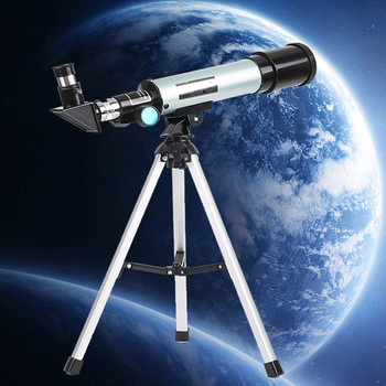 Astronomy Refraction 360X50 Astronomical Telescope with Portable Tripod Sky Monocular Telescopio Space Observation Scope Gift
