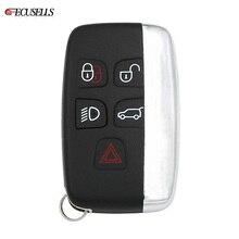5 버튼 원격 키 쉘 케이스 랜드 로버 LR4 용 스마트 카 키 하우징 커버 포브 레인지 로버 스포츠 Evoque 단어 포함