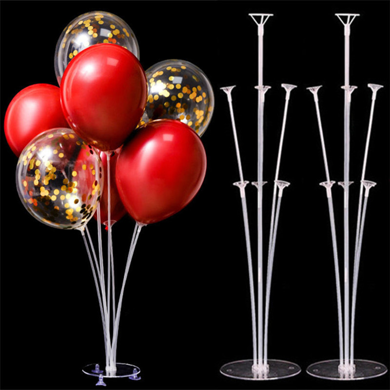 7 Tube Balloons Stand <font><b>Support</b></font> Balloon Holder Column Confetti Balloon Baby Shower Kids Birthday Party Wedding Decoration Supplies image