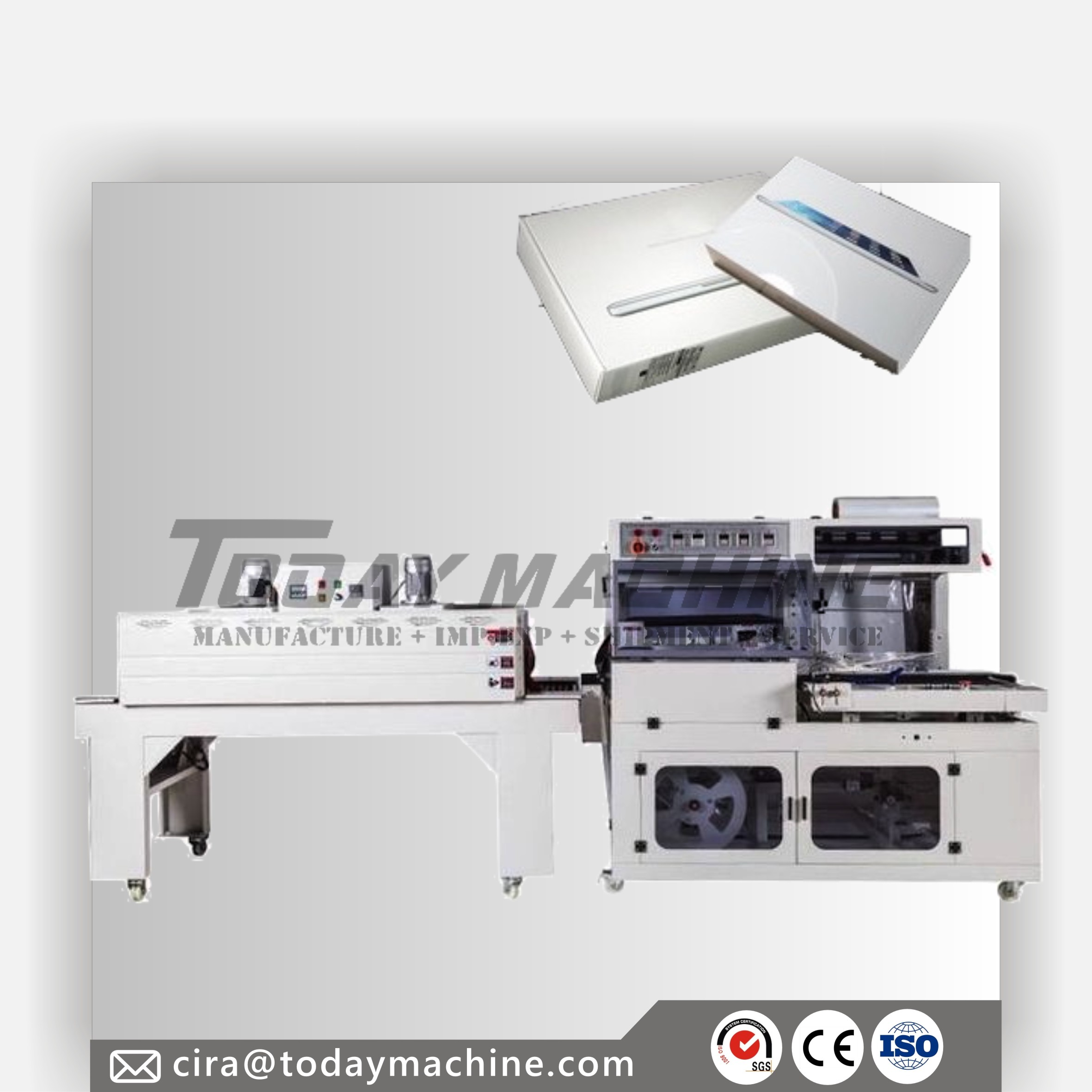Food Carton/chocolate Box Shrink Wrapping Machine For Sale