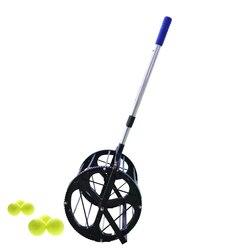 Pelotas de tenis telescópicas, cesta de tolva, colección de pelotas de tenis, receptor, recogedor de bolas de 55 bolas, máquina recolectora de capacidad