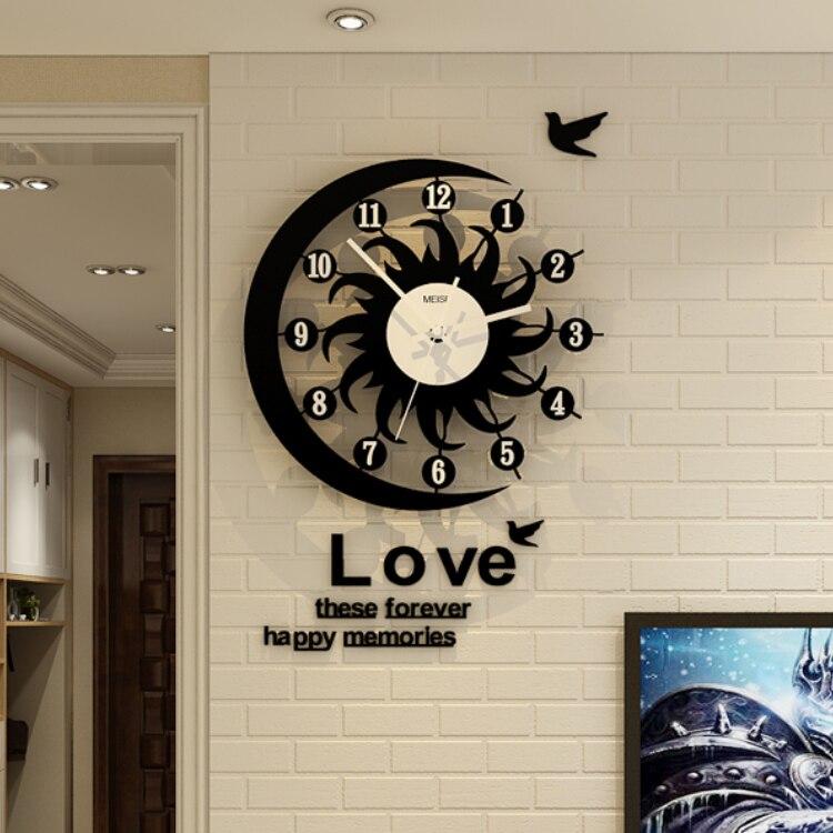 Large Nordic Wall Clock Silent Modern Quartz Wall Clock Creative Fashion Orologio Parete Living Room House Decoration MM60WC