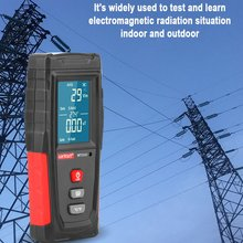 WT3121 Handheld Digital LCD EMF Meter Electromagnetic Radiation Tester Electric Field Magnetic Field Dosimeter Detector ht 20 professional high accuracy digital gauss meter magnetic machine with magnetic field indicator digital gauss meter
