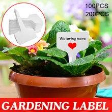 100/200 pces pvc t-tipo plantas pote inserir etiquetas reutilizáveis branco jardim planta de classificação sinal 10*6cm à prova d_ água marcadores planta _ wk