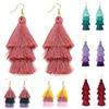 3 Layered Bohemian Fringed Luxury Statement Tassel Earrings Boho Indian Jewelry boho earrings valentine earrings Drop Earrings