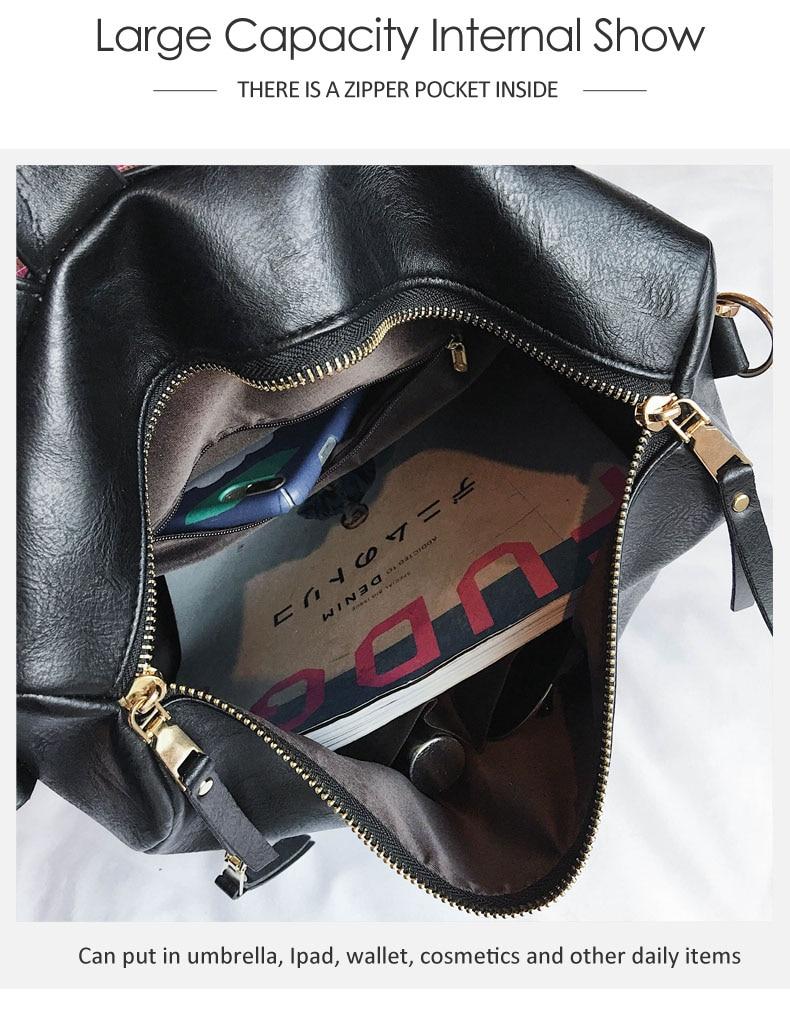 Ha953c5df5f6d49c4b2173b02c2fedabdg Leather Backpack Women 2019 Students School Bag Large Backpacks Multifunction Travel Bags Mochila Pink Vintage Back Pack XA529H