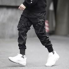 High Streetwear Cargo Pants Hombres Black Hip Hop Joggers Hombres