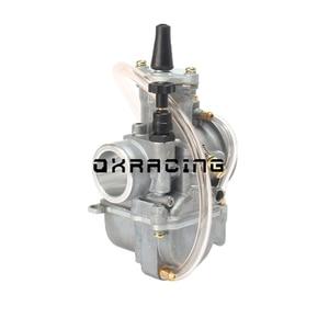 Image 4 - 2T 4T אוניברסלי אופנוע קרבורטור Carburador 21 24 26 28 30 32 34mm עם כוח Jet עבור מירוץ oko Moto