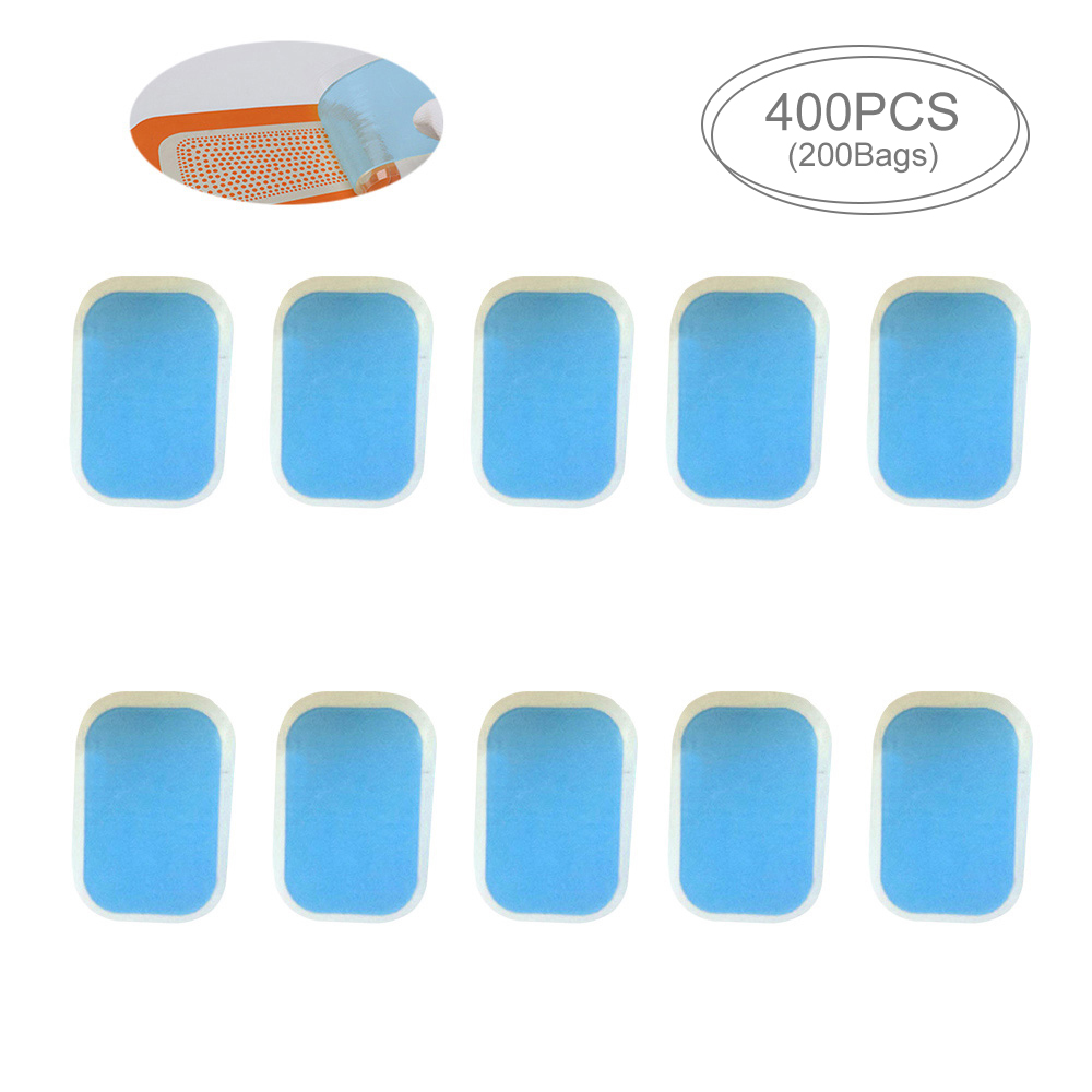 DropShipping 400 PCS Pads For EMS Trainer Abdominal Gel Sticker Fitness Hydrogel For Abdomen Muscle Stimulator Slimming Machine