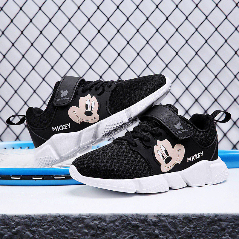 Disney children's sports shoes 2019 new autumn soft bottom pupils boys casual shoes girls running shoes cartoon Mickey mouse