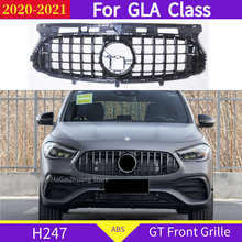 H247 GT front grille for mercedes GLA Class 2020 2021 GLA220 GLA200 GLA250 GLA260 ABS sport front bumper grill without emblem