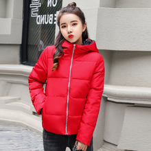 KMVEXO Both The Two Sides 2019 New Arrival Women Winter Jacket Padded Hood Short Female Coat Outwear Parka Casaco Feminino