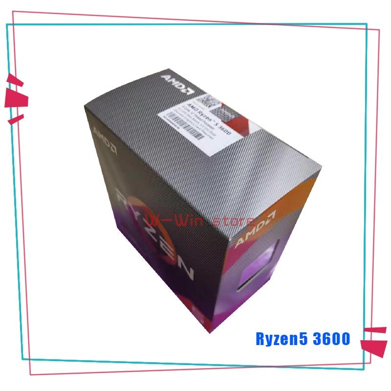 NEW AMD Ryzen 5 3600 R5 3600 3.6 GHz Six Core Twelve Thread CPU Processor 7NM 65W L3=32M 100 000000031 Socket AM4  With FanCPUs   -