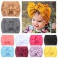 Новые летние 1 шт. Одежда для новорожденных; Комплект одежды для маленьких девочек, повязка с бантом на голову эластичная повязка для головы ...