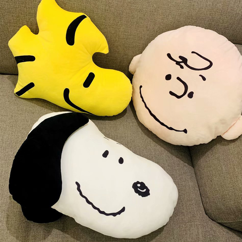 40cm Cartoon Snoopy Plush Pillow Toy WOODSTOCK Doll CHARLIE BROWN Plush Cushion Anime Periphery Gift For Children Birthday Gift