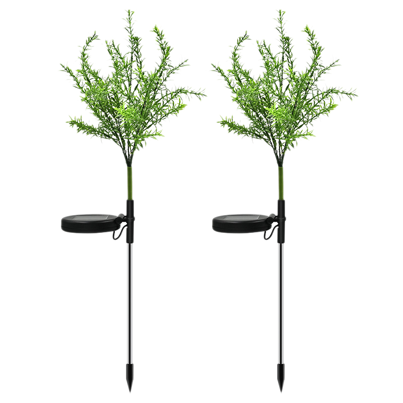 2 Pcs Solar Garden Lights Outdoor Christmas Tree LED Solar Powered Landscape Lights for Pathway Yard Patio Deck Walkway Decorati|Solar Lamps| |  - title=