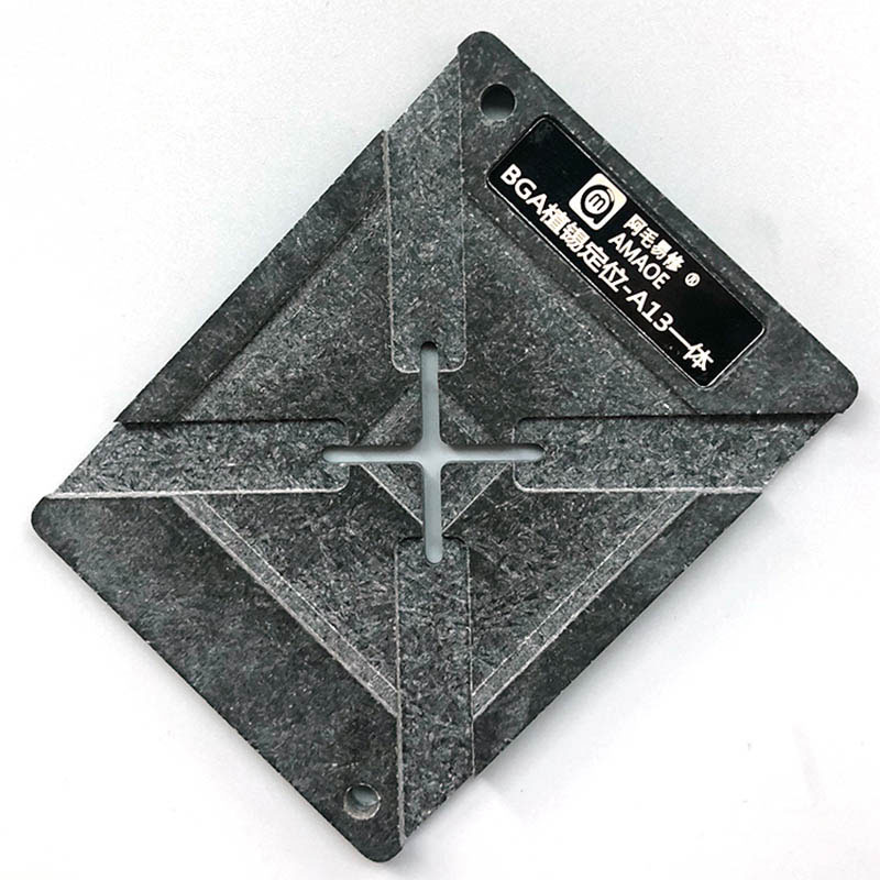 Amaoe A7 A8 A9 A10 A11 A12 A13 Magnetic BGA Reballing Platform Positioning Plate With 0.10mm Thickness Stencil for CPU Reballing 3