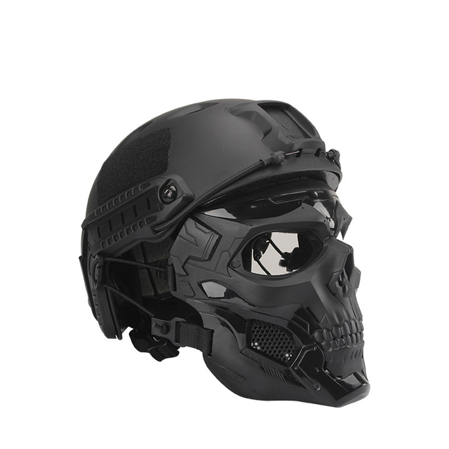 Bulletproof Helmet Bullet Proof Skull Mask  Lightweight Military Tactical Bulletproof Helmet Tactical Painball Riding 1
