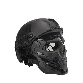 없음 방탄 헬멧 방탄 마스크 NIJ IIIA 경량 군사 전술 방탄 헬멧 전술 Painball 승마