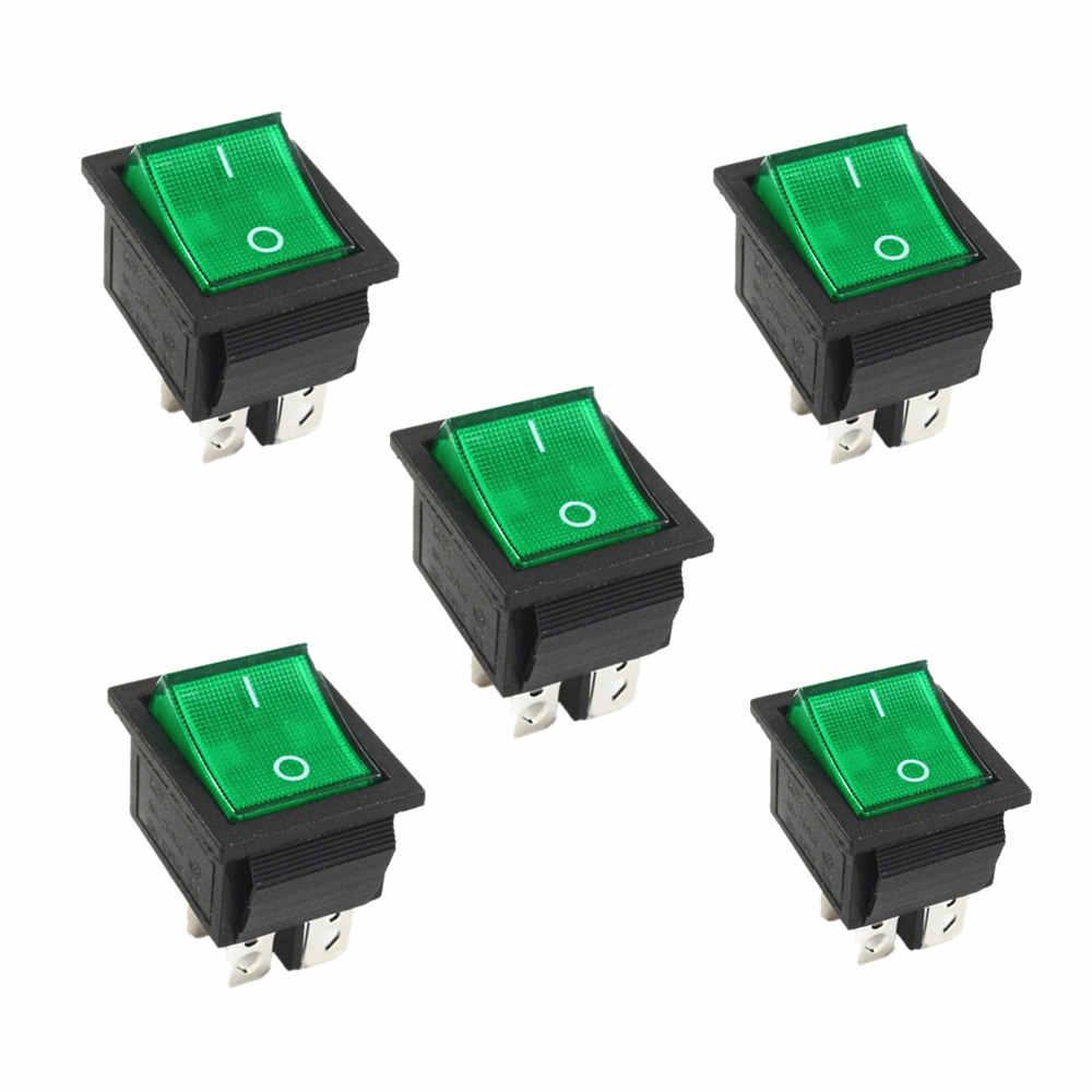 ラッチロッカースイッチの電源スイッチ I/O 4 ピン光 16A 250VAC 20A 125VAC KCD4