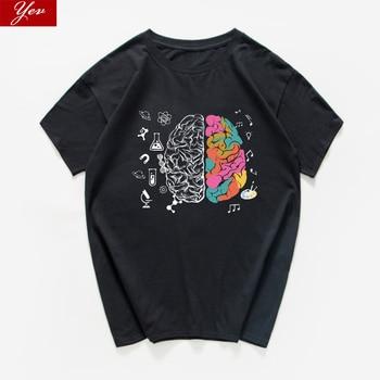 harajuku Geek Brain T Shirt men Science Chemistry Biology Geography streetwear Math Physics Cool T-shirt Funny Tee shirt homme