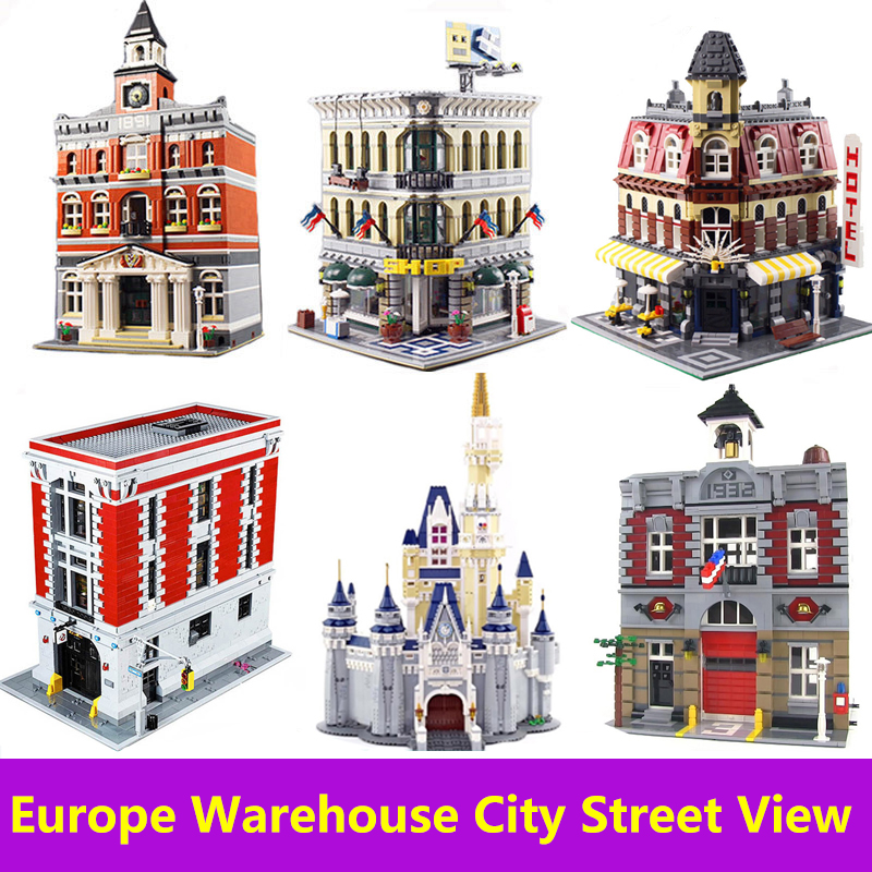 Lepinblocks City Street View Creator Expert House Building Blocks Set Movie Architecture Castle Toys For Children King Bricks