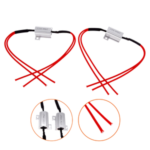 Image 2 - 2 Pcs 25W Load Resistors LED Flash Turn Signals Light Indicator Controllers Brake Running Motorcycle With 8 Quick Wire Clip