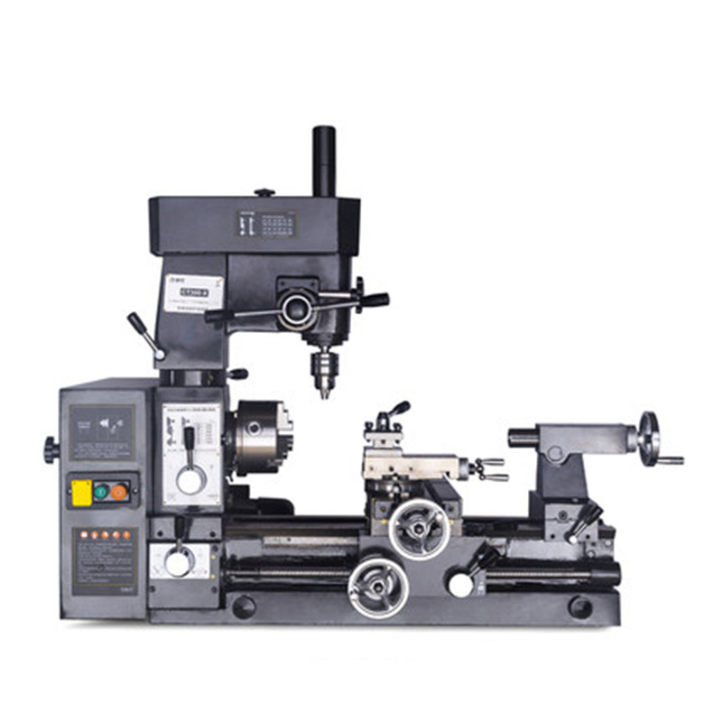 CE Multi-Function Lathe Car Drilling and Milling Three-in-One Machine Tools Turning and Milling Composite Horizontal Lathe 220V
